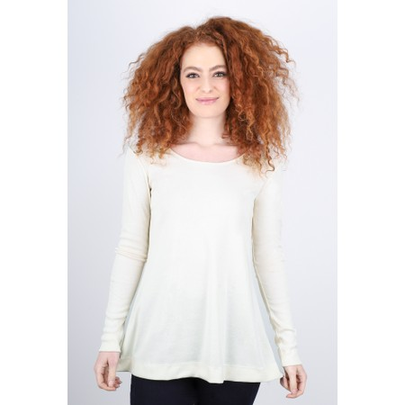 BY BASICS Anya Round Neck Organic Cotton Top - White