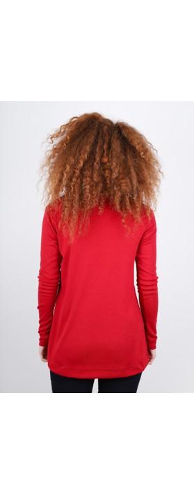BY BASICS Anya Round Neck Organic Cotton Top Brick Red 301