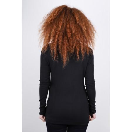BY BASICS Anya Round Neck Organic Cotton Top - Black
