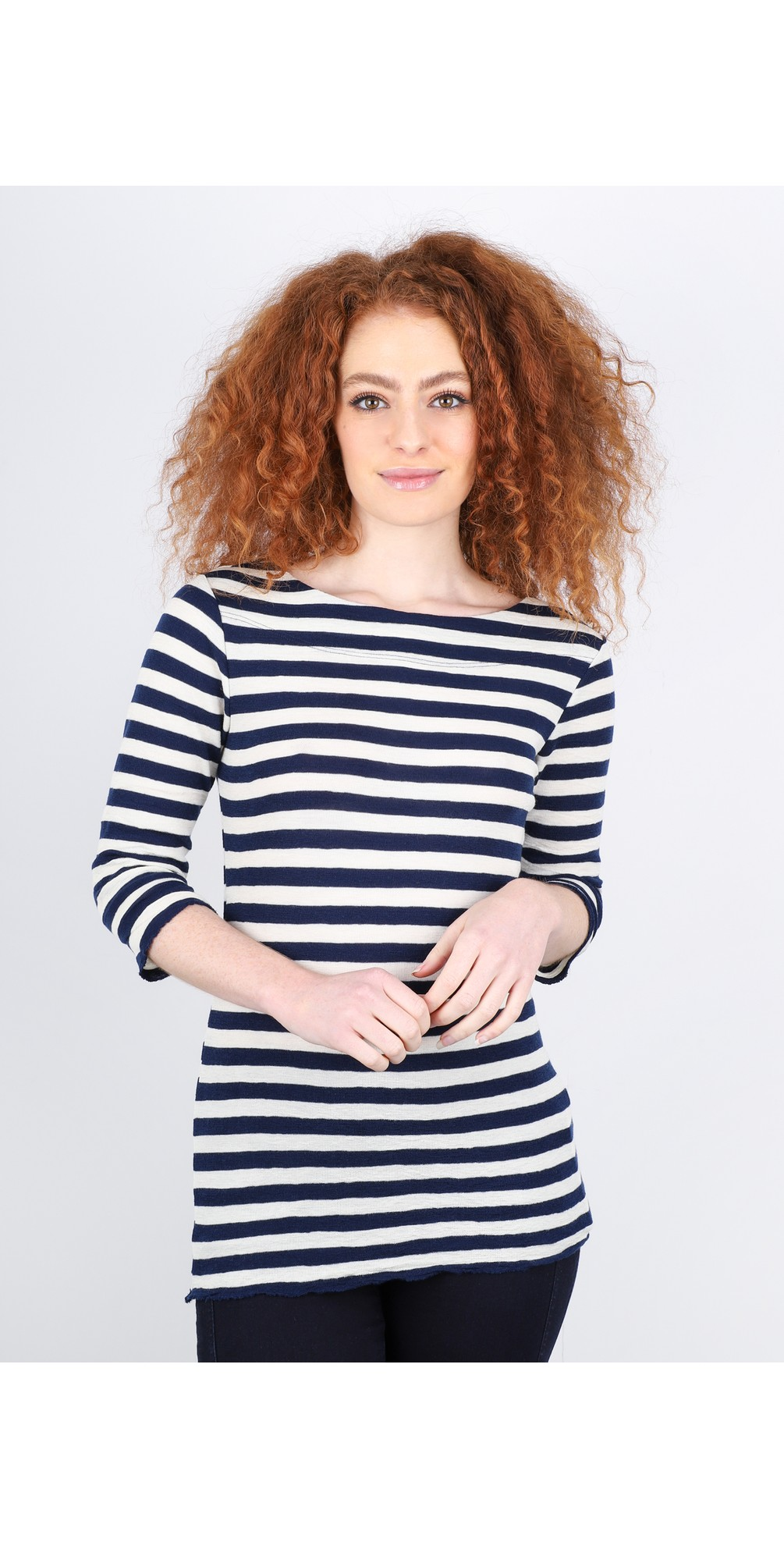 Mette Three Quarter Sleeve Blusbar Merino Top main image