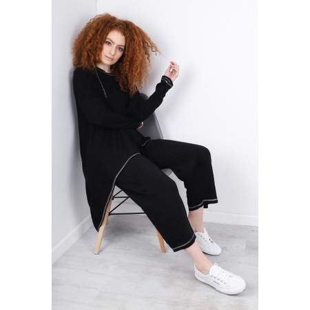 Sundae Tee Kimmy Cropped Lounge Trousers - Black
