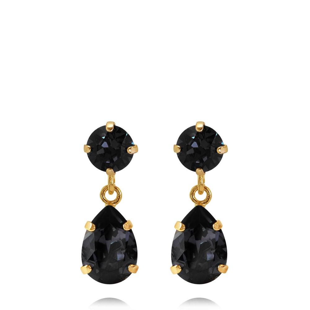 Caroline Svedbom Mini Drop Earring Graphite / Gold