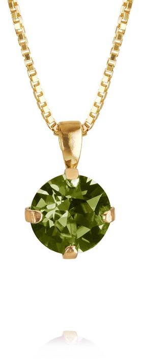 Caroline Svedbom Classic Petite Necklace Olivine / Gold