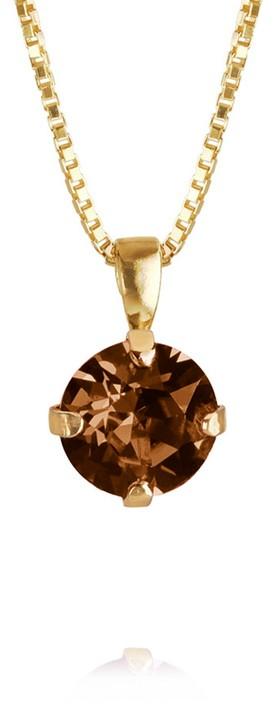 Caroline Svedbom Classic Petite Necklace Smoked Topaz / Gold