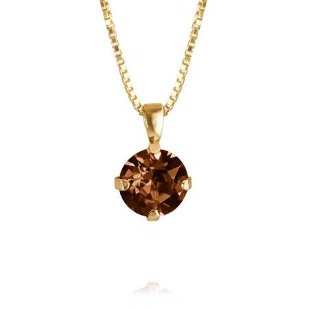 Caroline Svedbom Classic Petite Necklace - Brown