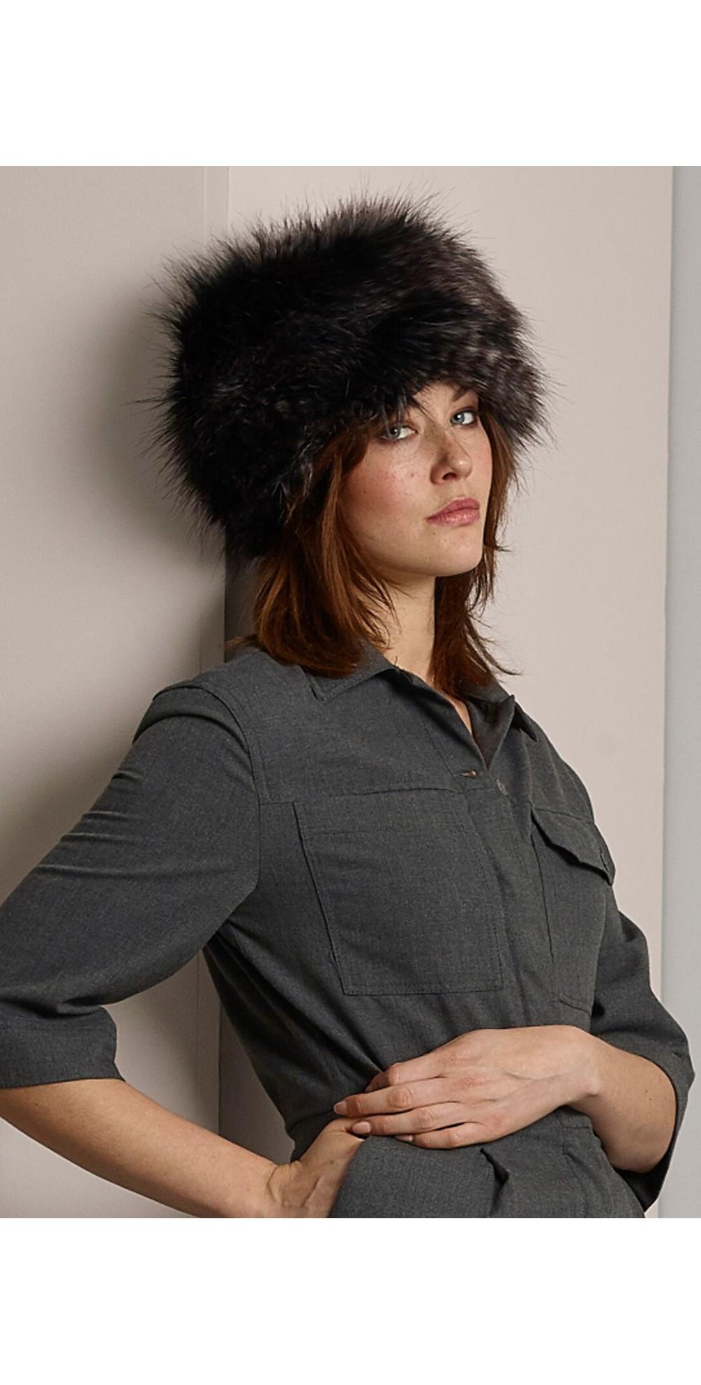 Pillbox Faux Fur Hat main image