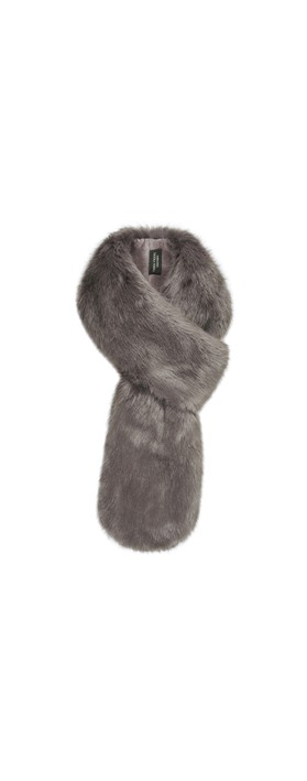 Helen Moore Loop Faux Fur Scarf Lady Grey