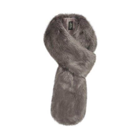Helen Moore Loop Faux Fur Scarf - Grey