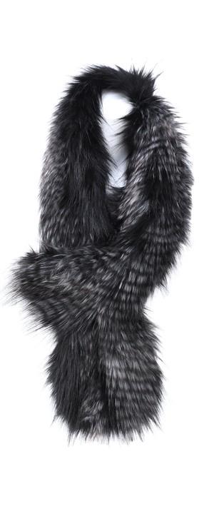 Helen Moore Loop Faux Fur Scarf Black Quail