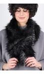 Helen Moore Black Quail Loop Faux Fur Scarf