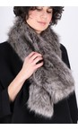 Helen Moore Lady Grey Loop Faux Fur Scarf