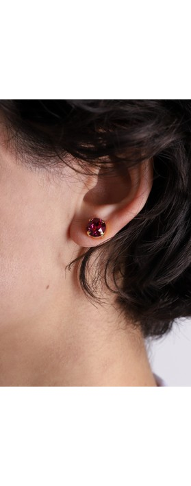 Caroline Svedbom Classic Stud Earring Fuchsia / Gold