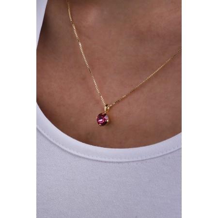Caroline Svedbom Classic Petite Necklace - Pink