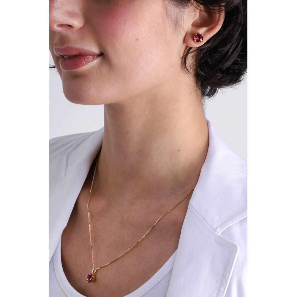 Caroline Svedbom Classic Petite Necklace Fuchsia / Gold