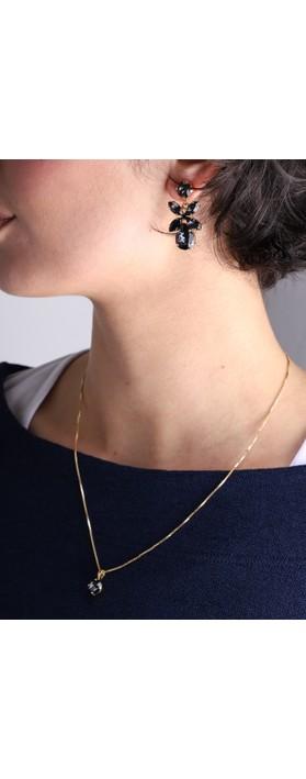 Caroline Svedbom Classic Petite Necklace Graphite / Gold