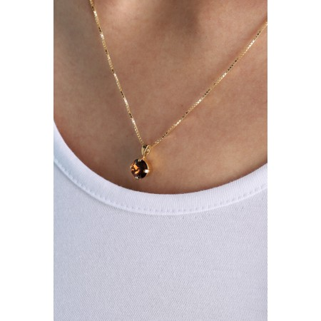 Caroline Svedbom Classic Petite Necklace - Brown