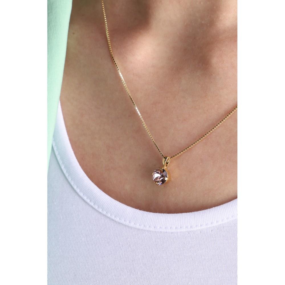 Caroline Svedbom Classic Petite Necklace Vintage Rose / Gold