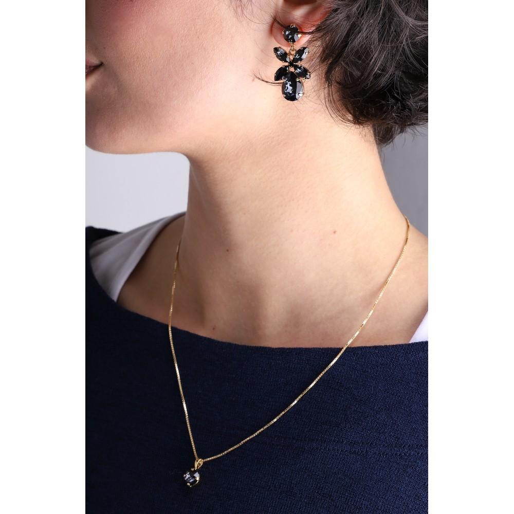 Caroline Svedbom Mini Dione Earring Graphite / Gold