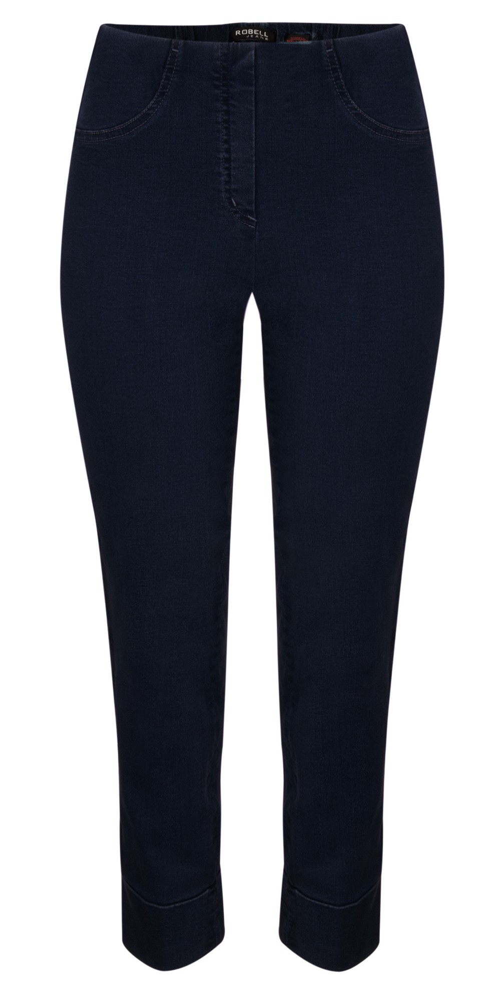 Bella 09 Navy Ankle Crop Jean with Cuff main image