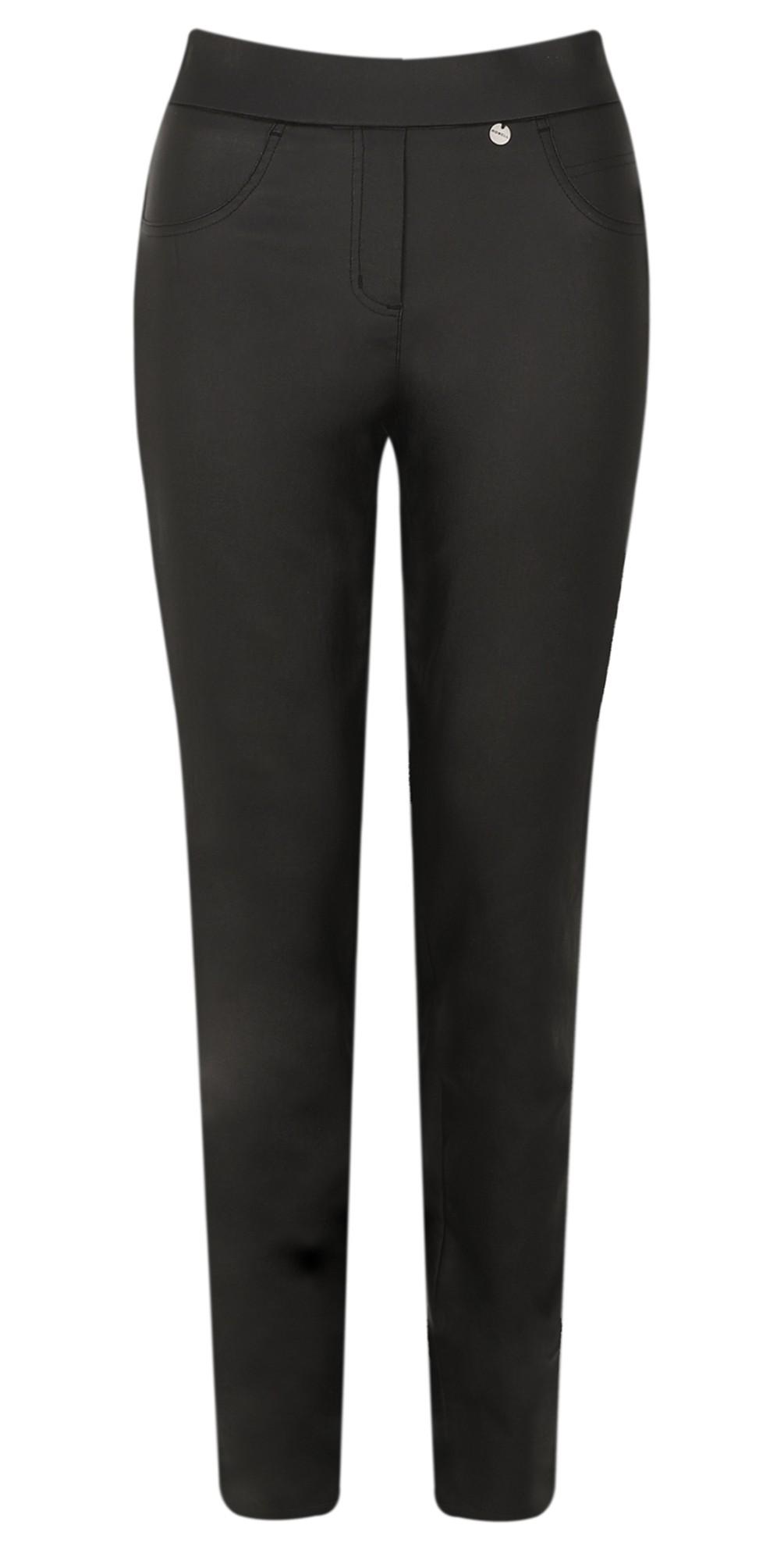 Rose Black Faux Leather Trouser main image