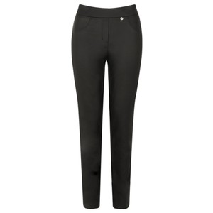 Robell  Rose Black Faux Leather Trouser