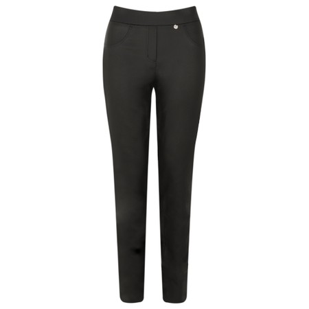 Robell  Rose Black Faux Leather Trouser - Black