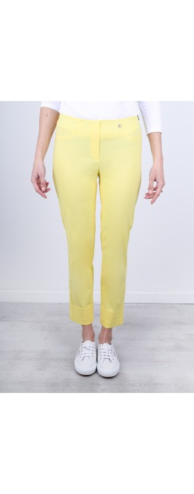 Robell Bella 09 Lemon Ankle Length Crop Cuff Trouser Lemon 21