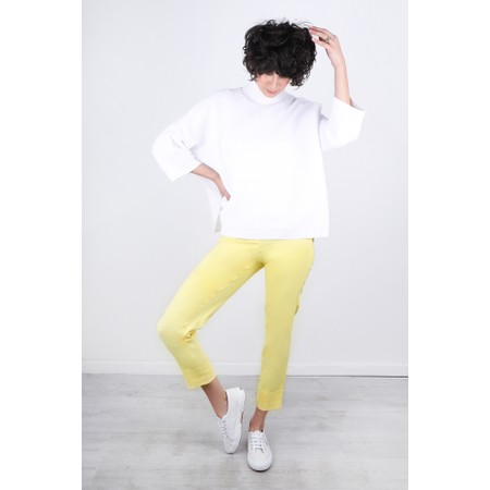 Robell  Bella 09 Ankle Length 7/8 Cuff Trouser - Yellow