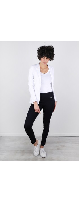 Robell Emilia Fitted Jacket White 10