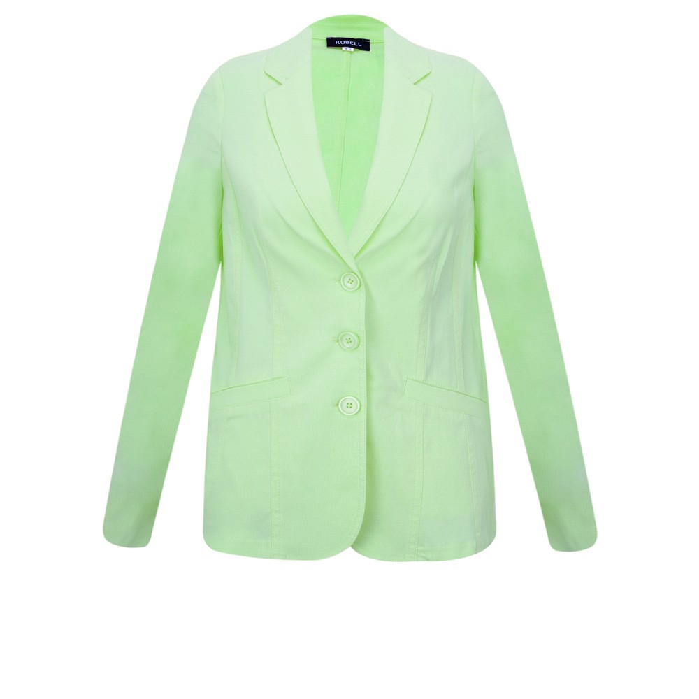 Robell Emilia Fitted Jacket Pale Lime 183
