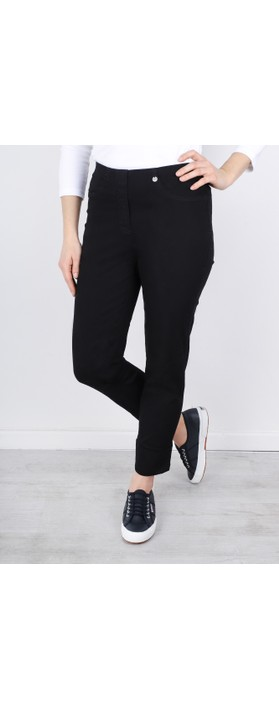 Robell  Bella 09 Jean 7/8 Length with Cuff Black