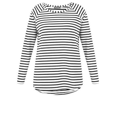 Chalk Tasha Striped Top - Black