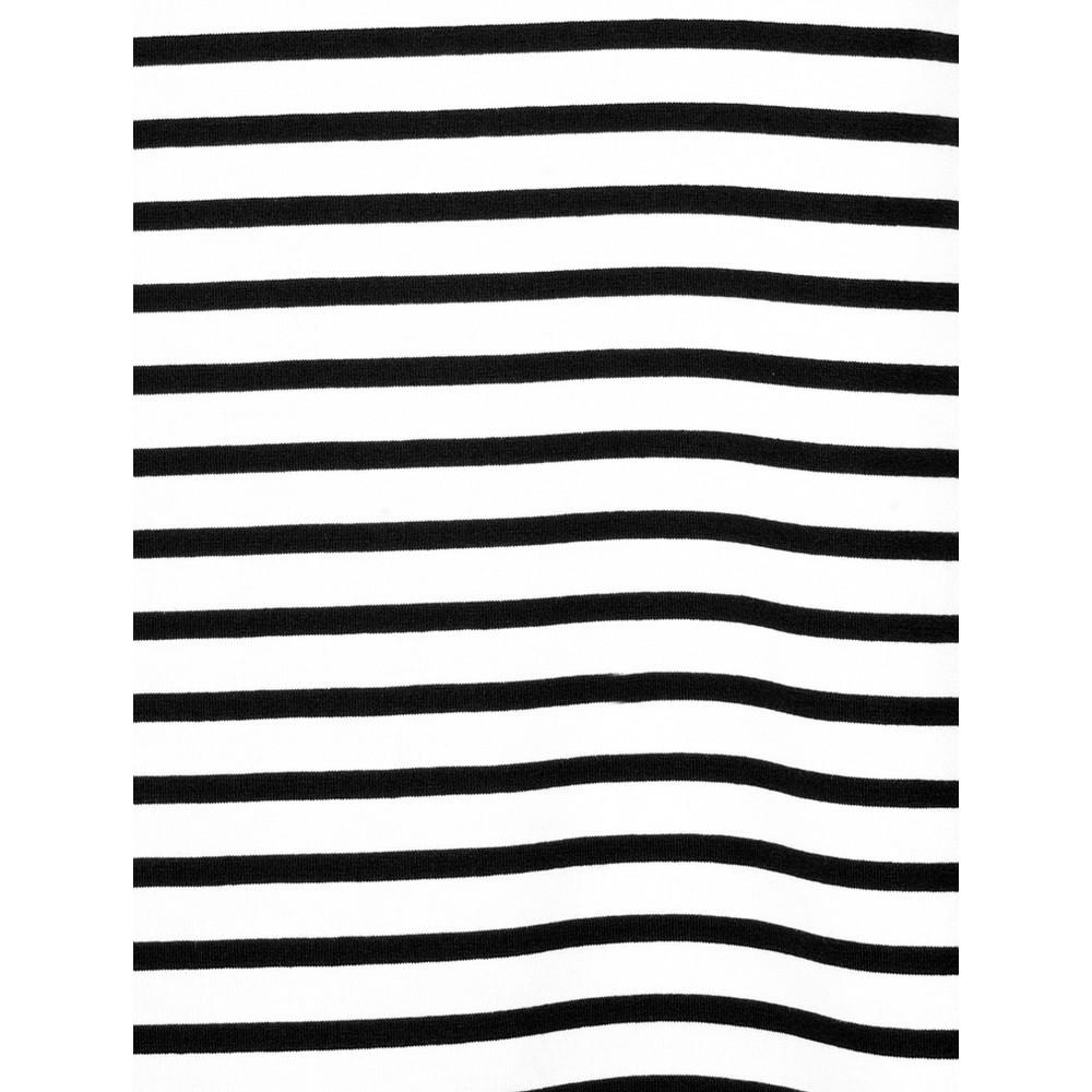 Chalk Tasha Stripe Top Black