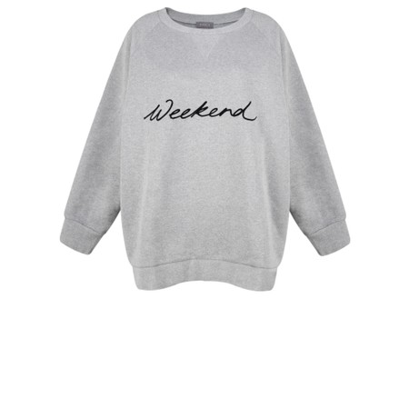 Chalk Ruby Weekend Sweatshirt - Grey
