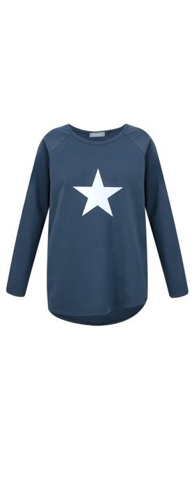 Chalk Tasha Star Top Navy / White
