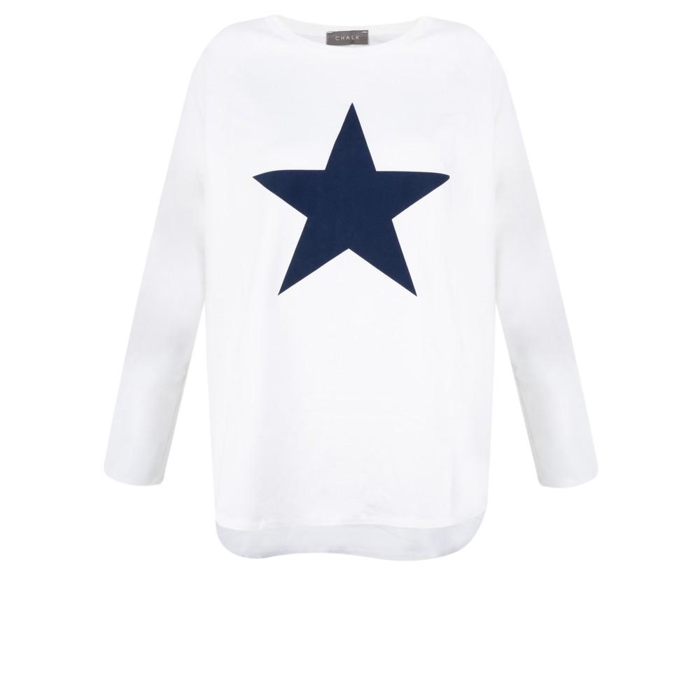 Chalk Tasha Star Top White / Navy