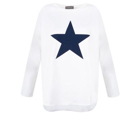 Chalk Tasha Star Top - White