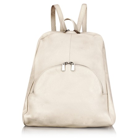 Gemini Label Bags Salerno Leather Backpack - Beige