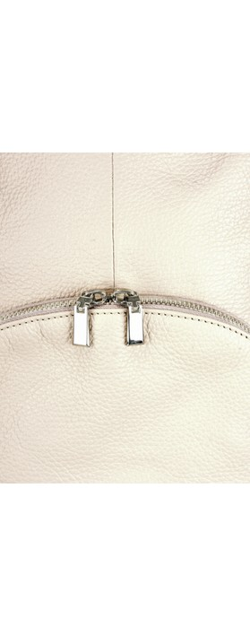 Gemini Label Bags Salerno Leather Backpack Light Taupe