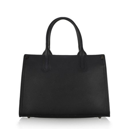 Gemini Label  Prairie Leather Tote Bag  - Beige
