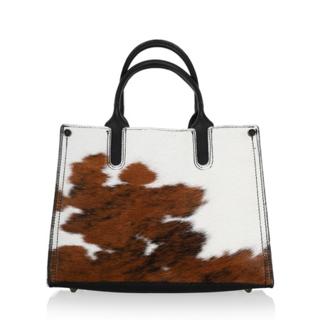 Gemini Label  Prairie Leather Tote Bag  - Brown