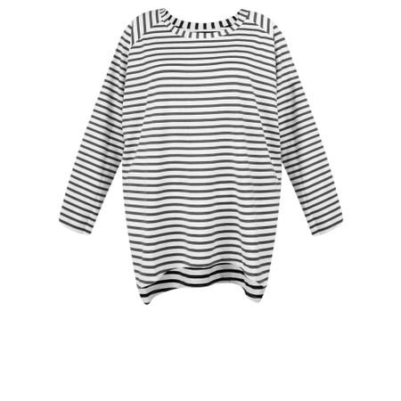 Chalk Robyn Stripe Top - Grey