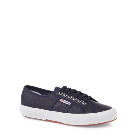 Superga 2750 Efglu Classic Leather Trainer - Blue