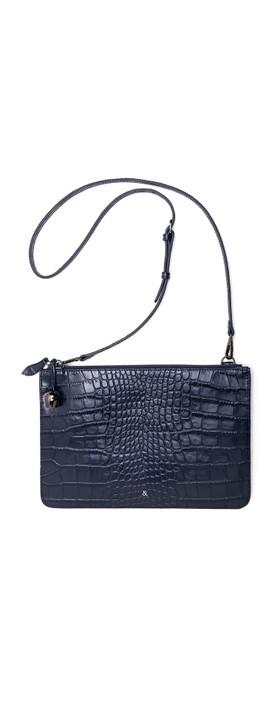 Bell & Fox Gia Oversized Clutch/Cross Body Bag Navy