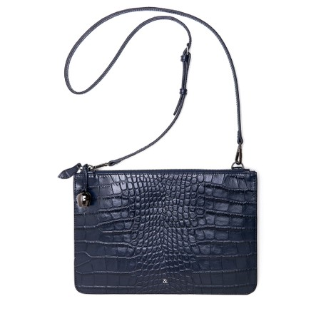 Bell & Fox Gia Oversized Clutch/Cross Body Bag - Blue