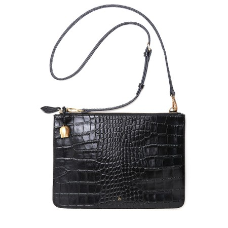 Bell & Fox Gia Oversized Clutch/Cross Body Bag - Black