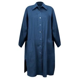 Chalk Lisa Linen Coat