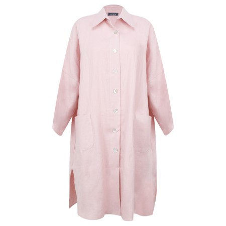 Chalk Lisa Linen Jacket - Pink