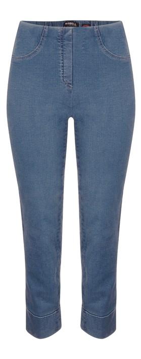 Robell Bella 09 Denim Ankle Crop Jean with Cuff Denim