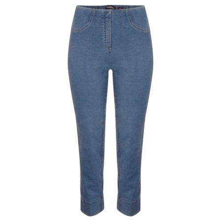 Robell  Bella 09 Jean 7/8 Length with Cuff - Blue